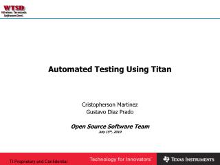 Automated Testing Using Titan