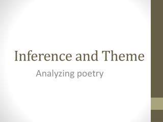 Inference and Theme