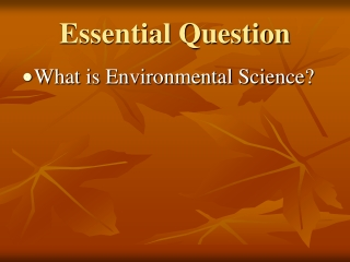 Resources in Environmental Science and Ecology
