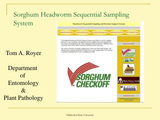Sorghum Headworm Sequential Sampling System