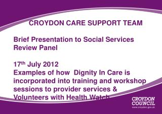 Examples of how Dignity In Care is integrated into  training sessions designed and delivered to