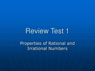 Review Test 1
