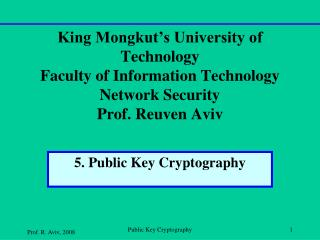 5. Public Key Cryptography
