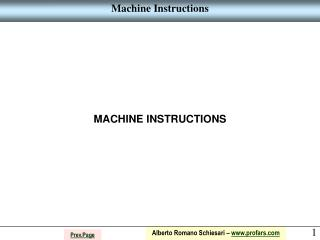 Machine Instructions