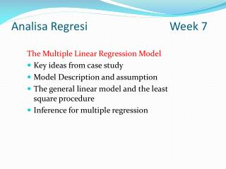 Analisa Regresi Week  7