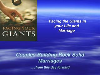 Couples Building Rock Solid Marriages … from this day forward