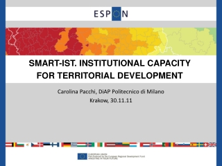 INSTITUTIONAL FRAMEWORK FOR THE COHESION POLICY IN SPAIN