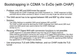 Bootstrapping in CDMA 1x EvDo (with CHAP)