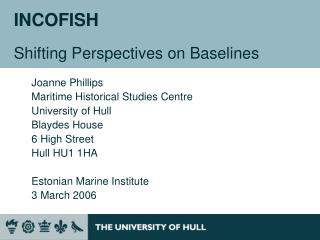 INCOFISH Shifting Perspectives on Baselines