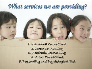 What services we are providing ?