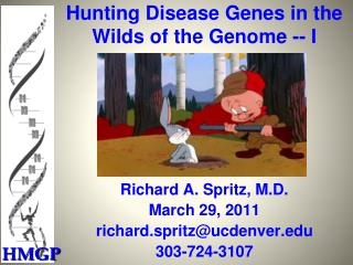 Hunting Disease Genes in the Wilds of the Genome -- I