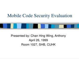 Mobile Code Security Evaluation
