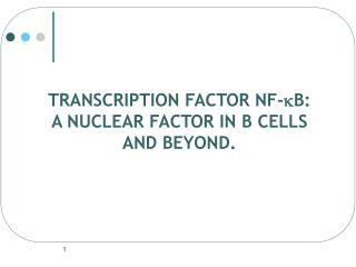 TRANSCRIPTION FACTOR NF- k B: A NUCLEAR FACTOR IN B CELLS AND BEYOND.