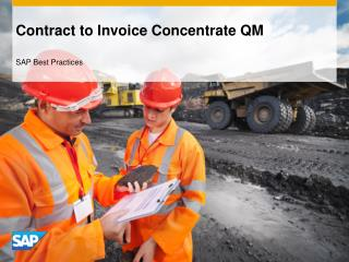 Contract to Invoice Concentrate QM