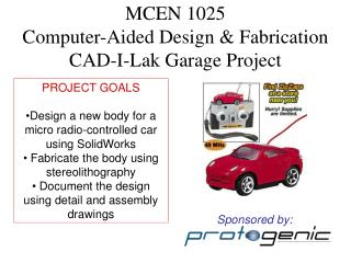 MCEN 1025 Computer-Aided Design & Fabrication CAD-I-Lak Garage Project