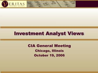 Investment Analyst Views