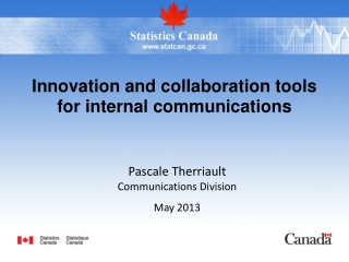 Innovation and collaboration tools for internal communications