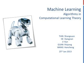 Machine Learning Algorithms in Computational Learning Theory