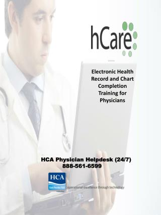 Electronic Health Record and Chart Completion Training for Physicians