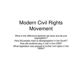 Modern Civil Rights Movement