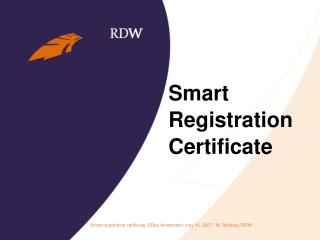 Smart  Registration  Certificate