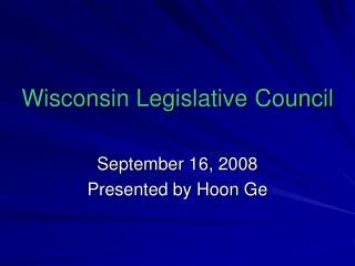 Wisconsin Legislative Council