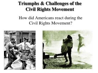 Triumphs & Challenges of the Civil Rights Movement