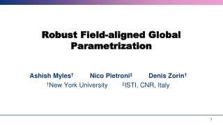 Robust Field-aligned Global Parametrization