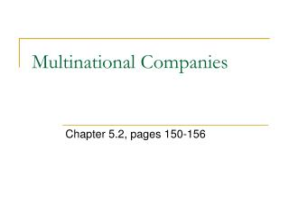 Multinational Companies
