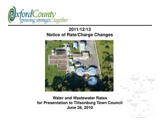 Water and Wastewater Rates for Presentation to Tillsonburg Town Council June 28, 2010