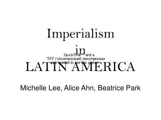 Imperialism in LATIN AMERICA