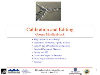 Calibration and Editing George Moellenbrock