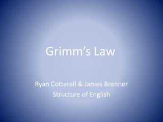 Grimm's Law