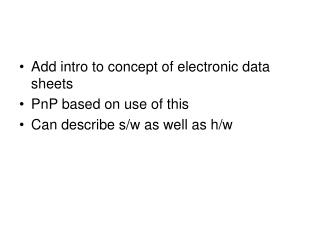 Add intro to concept of electronic data sheets PnP based on use of this