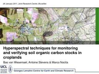 Hyperspectral techniques for monitoring and verifying soil organic carbon stocks in croplands