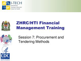 ZHRC/HTI Financial Management Training