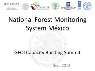 National Forest Monitoring System  México GFOI Capacity Building Summit