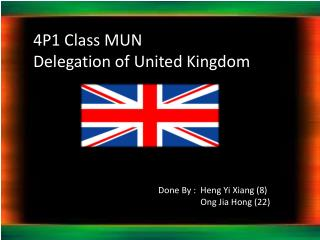 4P1 Class MUN Delegation of United Kingdom