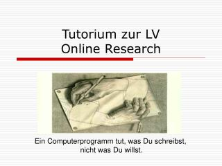 Tutorium zur LV  Online Research