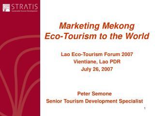 Marketing Mekong  Eco-Tourism to the World