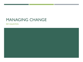 Change management or