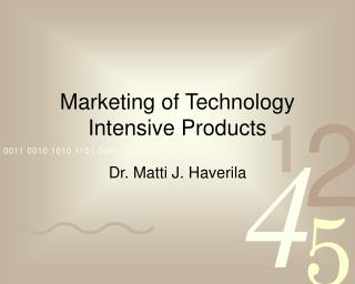 Marketing of Technology Intensive Products