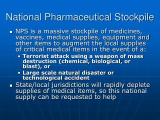 National Pharmaceutical Stockpile