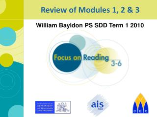 Review of Modules 1, 2 & 3