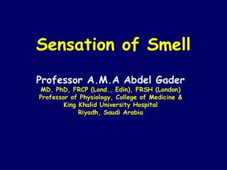 Sensation of Smell