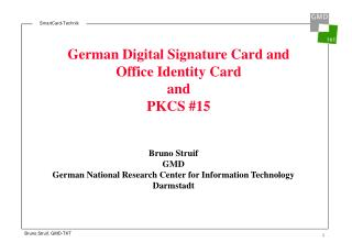 German Digital Signature Card and Office Identity Card  and  PKCS #15