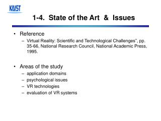 1-4.  State of the Art  &  Issues