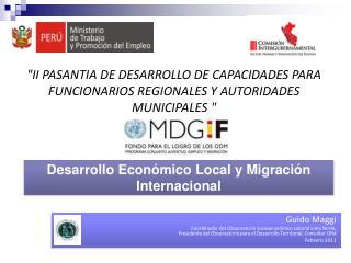 Desarrollo Económico Local y Migración Internacional