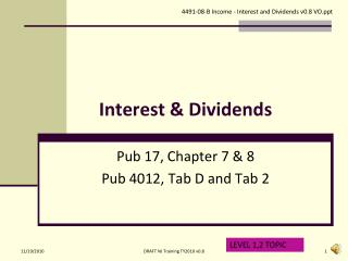 Interest & Dividends