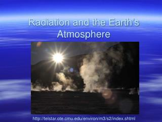 Radiation and the Earth's Atmosphere